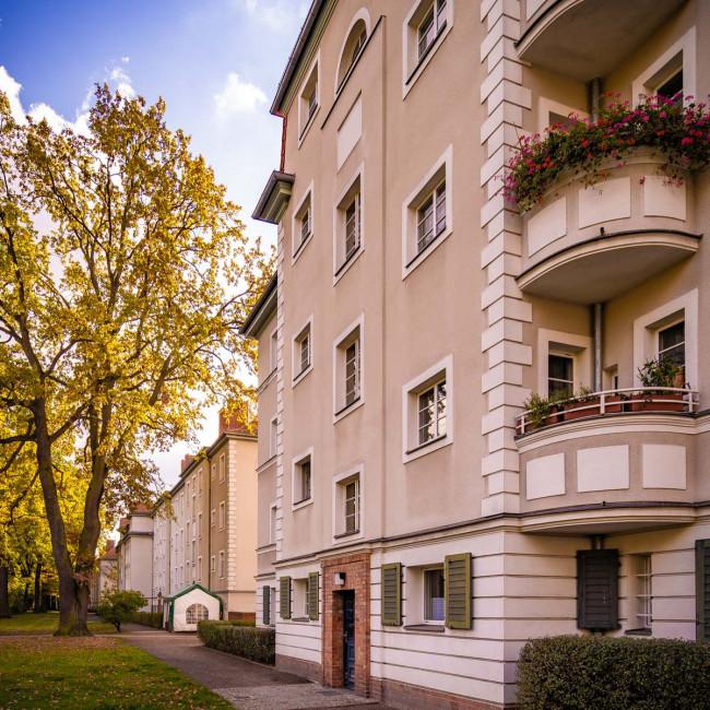 Hausfassade in Siemensstadt